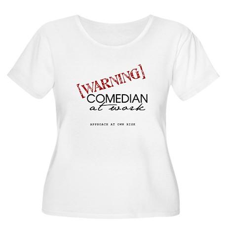 Warning: Comedian Women's Plus Size Scoop Neck T-