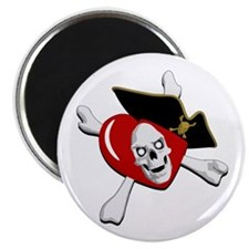 "Pirate Heart 2.25"" Magnet (10 pack)"