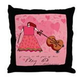 Funny Shakespeare Music Throw Pillow