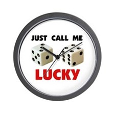 LUCKY DICE Wall Clock