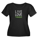 Live Love Tango Women's Plus Size Scoop Neck Dark