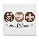 Peace Love New Orleans Tile Coaster