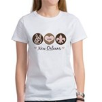 Peace Love New Orleans Women's T-Shirt