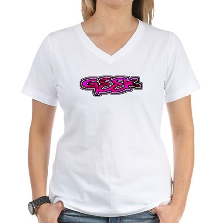 Geek Women's V-Neck T-Shirt