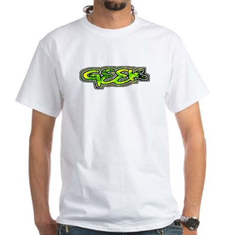 Geek White T-Shirt