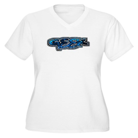 Geek Women's Plus Size V-Neck T-Shirt