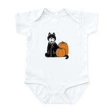 Black Cat and Pumpkins Infant Bodysuit