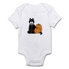Black Cat and Pumpkins Infant Bodysuit