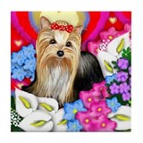 YORKSHIRE TERRIER Valentine Tile Coaster