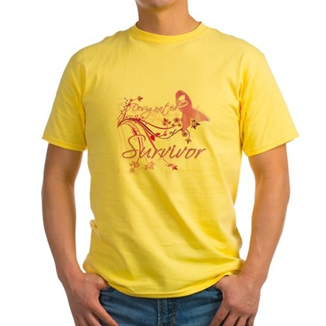 Pink Ribbon Survivor Yellow T-Shirt