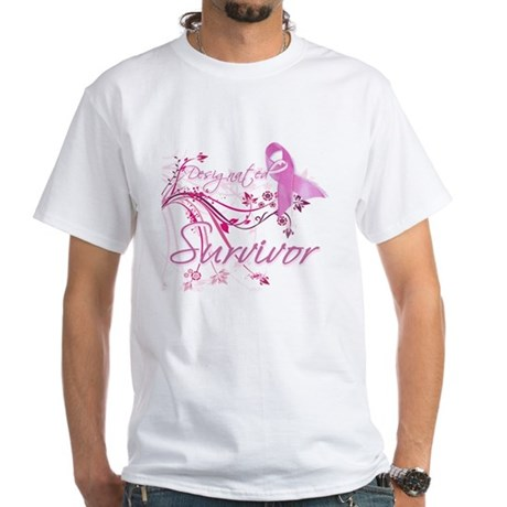 Pink Ribbon Survivor White T-Shirt