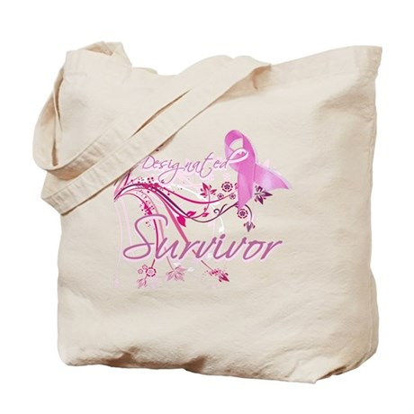 Pink Ribbon Survivor Tote Bag