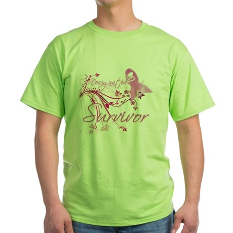 Pink Ribbon Survivor Green T-Shirt
