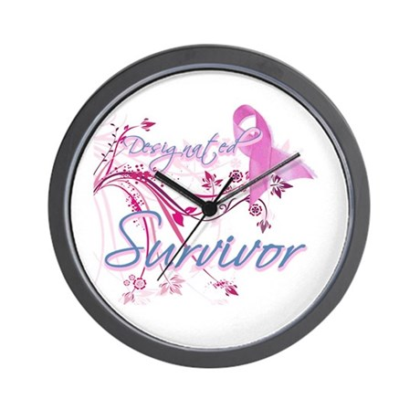 Pink Ribbon Survivor Wall Clock