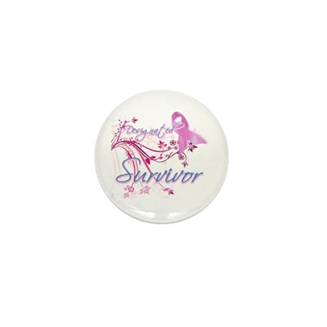 Pink Ribbon Survivor Mini Button