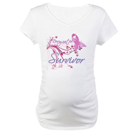 Pink Ribbon Survivor Maternity T-Shirt