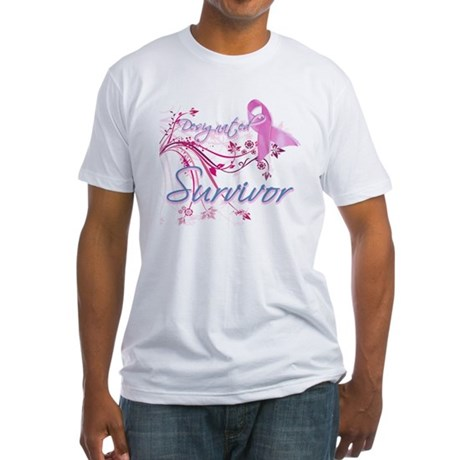 Pink Ribbon Survivor Fitted T-Shirt