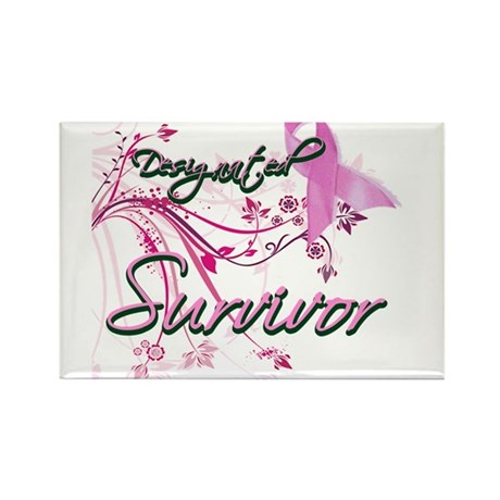 Pink Ribbon Survivor Rectangle Magnet