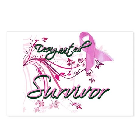 Pink Ribbon Survivor Postcards (Package of 8)