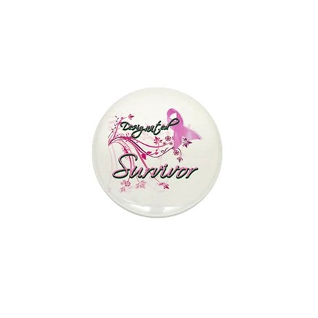 Pink Ribbon Survivor Mini Button (100 pack)