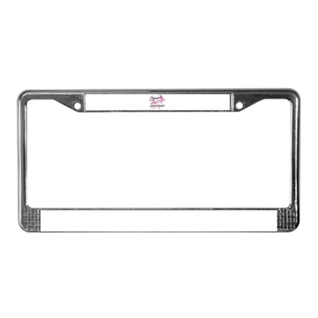 Pink Ribbon Survivor License Plate Frame