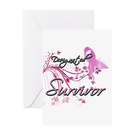 Pink Ribbon Survivor Greeting Card