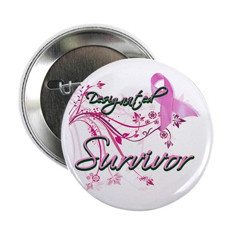 "Pink Ribbon Survivor 2.25"" Button (100 pack)"
