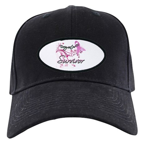 Pink Ribbon Survivor Black Cap
