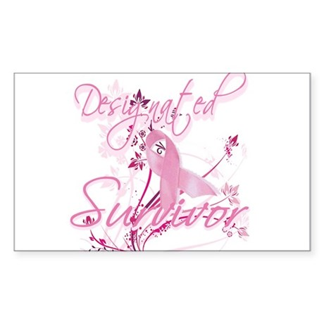 Pink Ribbon Survivor Rectangle Sticker