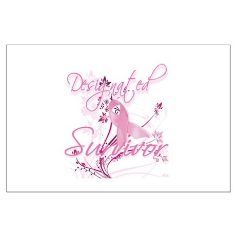 Pink Ribbon Survivor Large Poster