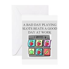 slot machine t-shirts gifts Greeting Card