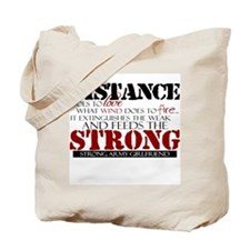 Feeds the strong: Army Girlfr Tote Bag