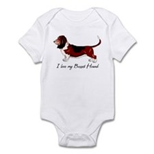 I Love my Basset Infant Bodysuit