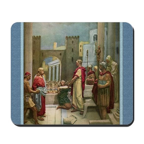 Jesus before Pilate - Mastroianni - Mousepad
