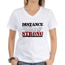 Feeds the strong: Navy Girlfr Shirt
