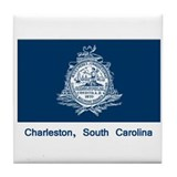 Charleston SC Flag Tile Coaster