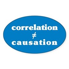 Correlation Causation Oval Decal