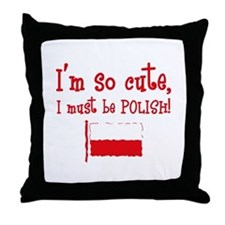 So Cute Polish Throw Pillow