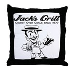 Jack's Grill Throw Pillow