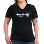 Jack's Grill Women's V-Neck Dark T-Shirt