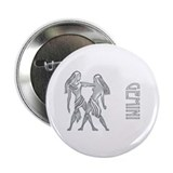 """ Silver Gemini Design "" Button"