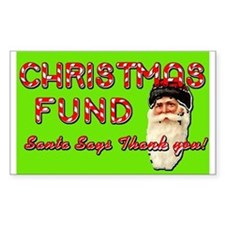 Christmas Fund Tip Jar Decal