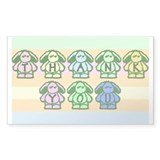 So Cute Bunnies Tipjar Decal