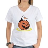 Penguin in Pumpkin Shirt