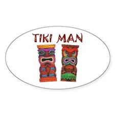 TIKI MAN Oval Decal