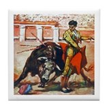 Bull Fighter Tile Coaster