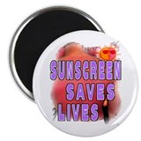 "Sunscreen Saves Lives 2.25"" Magnet (10 pack)"