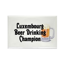 Luxembourg Beer Champ Rectangle Magnet (10 pack)