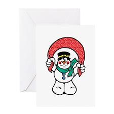 Silly Goofy Snowman Greeting Card