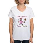 Inner Pirate Women's V-Neck T-Shirt